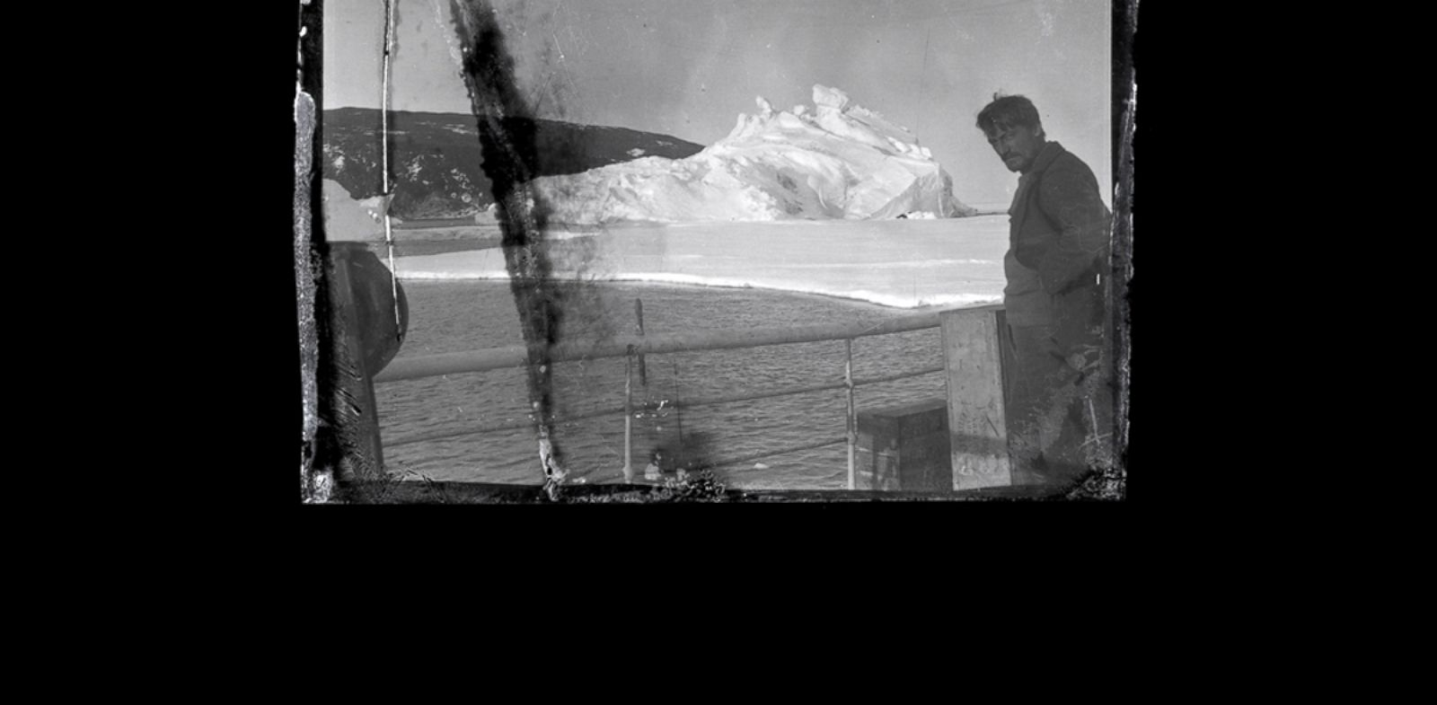 PHOTO: Alexander Stevens is photographed on the deck of the Aurora in McMurdo Sound, Antarctica.
