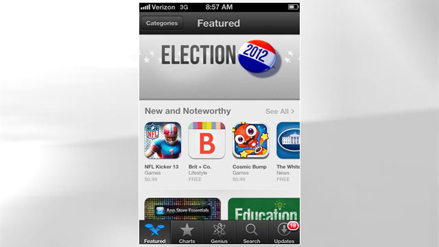 PHOTO: The redesigned App Store is featured in iOS 6.