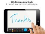 PHOTO: Apple hit 50 billion app downloads,May 15 2013.