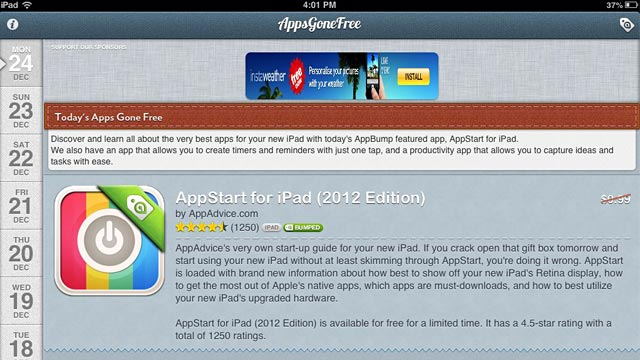 PHOTO: Apps Gone Free