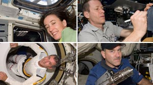 Photo: Atlantis Astronauts Who Fixed Hubble Earn Day Off: With Hubble fixed and back in orbit, Atlantis astronauts get to savor a rare day off in space