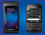 PHOTO: BlackBerys new Z10 and Q10