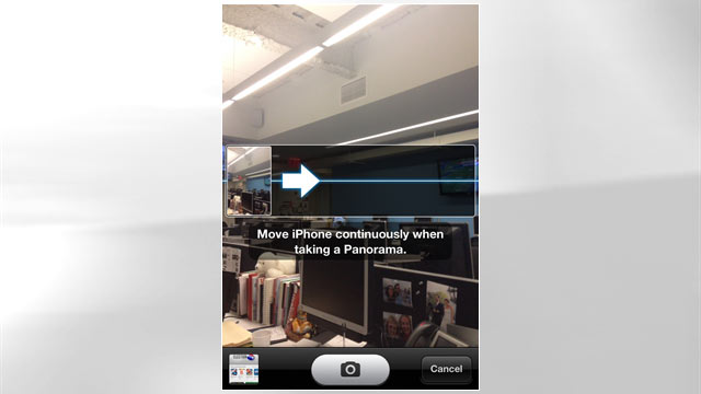 PHOTO: You can now take panorama photos with Apple's iOS 6.