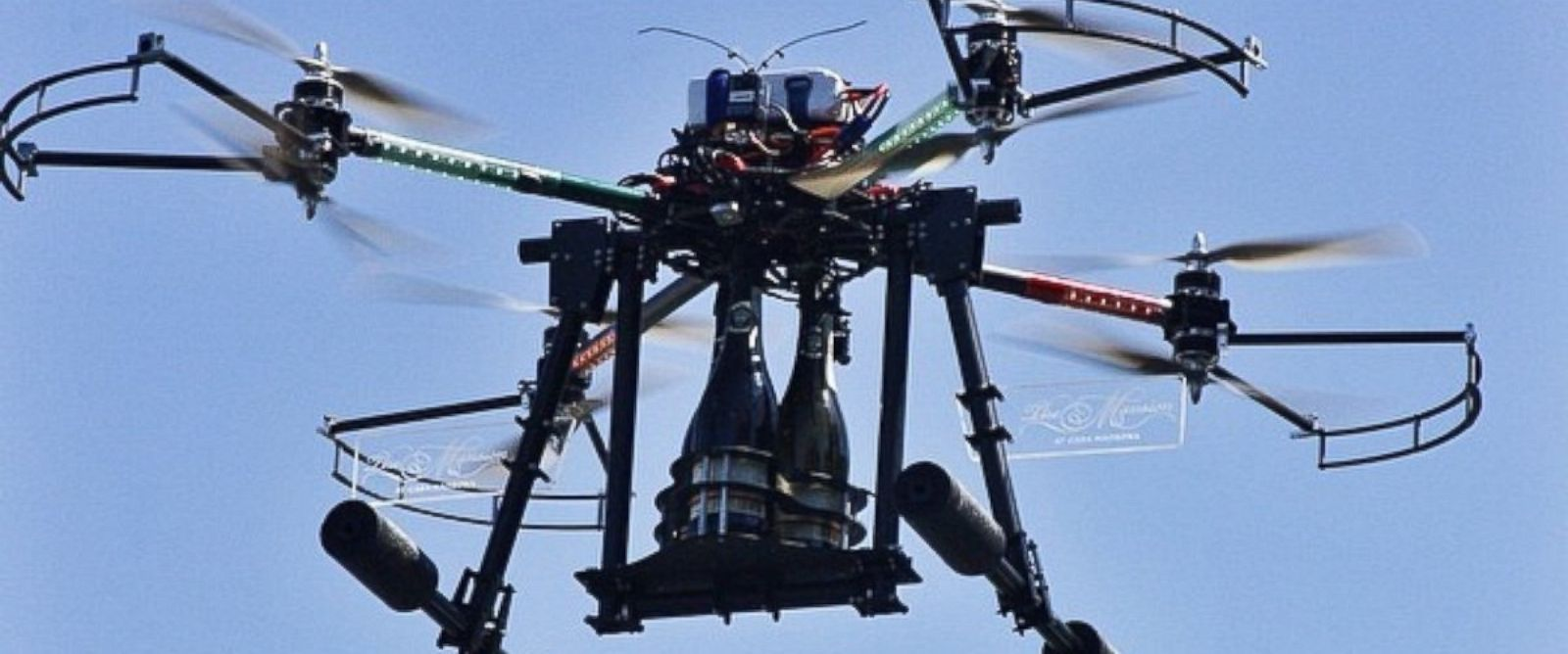 PHOTO: Champagne drone delivery service, as seen in this undated photo posted to Instagram, is offered at Casa Madrona hotel in Sausalito, Calif.