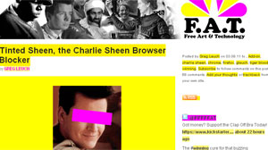 PHOTO If youre suffering from Charlie Sheen fatigue, a new Web browser plug-in can erase the actor from your online life.