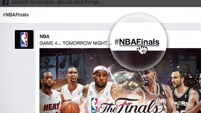 PHOTO: Facebook will add clickable hashtags to posts, allowing users to easily find what other people are talking about.
