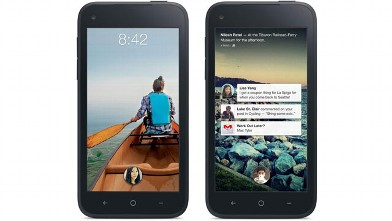 PHOTO: Facebook's Home software on HTC's First phone.