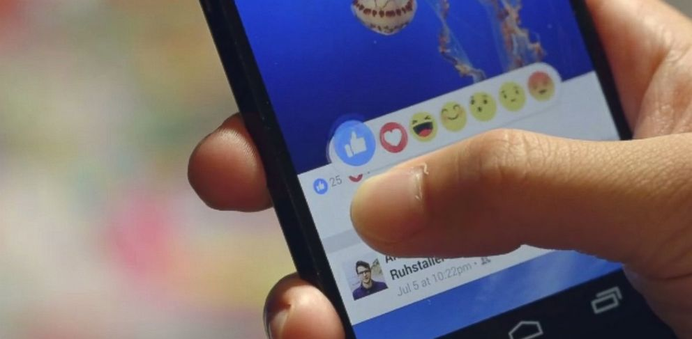 PHOTO: Chris Cox posted a video to Facebook showing the a new like feature.