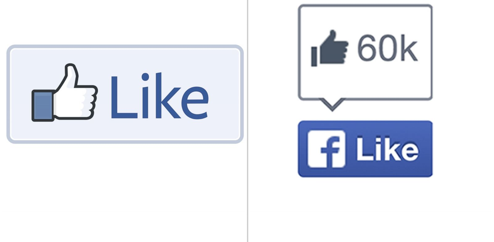 "PHOTO: Facebook has dropped the thumbs up as it rolled out a new ""Like"" button."