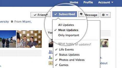 ht facebook subscribe dm 110914 wblog Facebook Smart Lists, Subscribe Button Offer Control Over Content