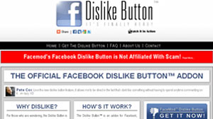 """PHOTO one start-up actually offers a Web browser plug-in that installs a legitimate """"dislike"""" button on Facebook."""