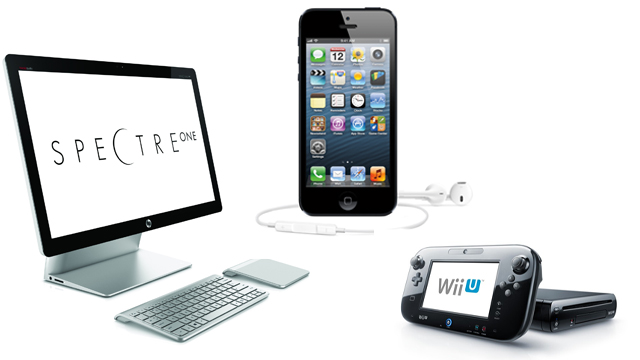 PHOTO: The gadgets of the week include the HP Spectre All-In-One, the Nintentdo Wii U, and the iPhone 5.