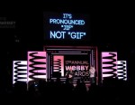 PHOTO: GIF creator Steve Wilhite accepts a lifetime achievement award at The Webby Awards, May 21, 2013.