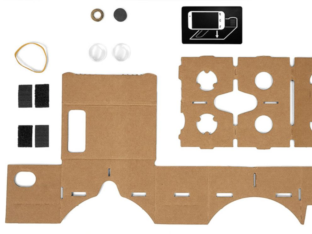 PHOTO: Pictured is how to make a Google Cardboard viewer.
