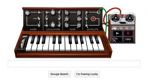 ht google doodle ll 120522 wblog Google Doodle, a Music Synthesizer, Pays Tribute to Robert Moog