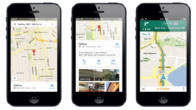 PHOTO: Google Maps App for iPhone