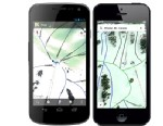 PHOTO: You can now view ski resort maps with trails via Google Maps on the iPhone and Android phones.