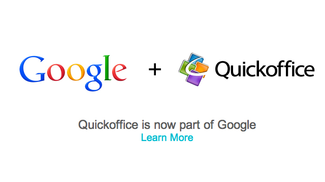 PHOTO: Google acquires QuickOffice
