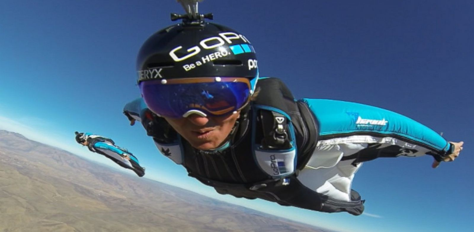 PHOTO: Marshall Miller, in front, and three friends from Utah called the GoPro Bomb Squad have made a living capturing their daring jumps from all over the world on the popular camera.