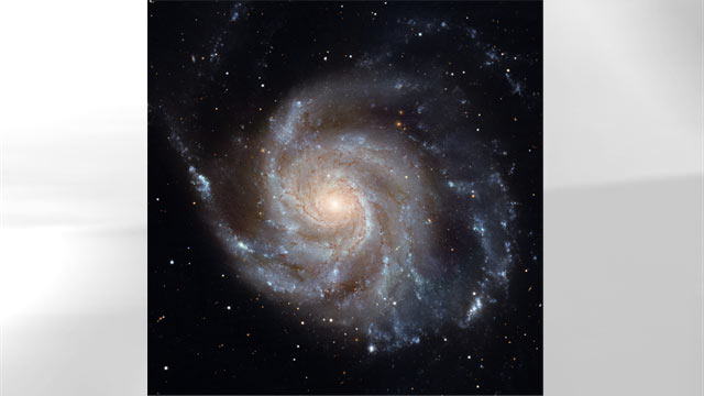"""PHOTO:Messier 101 which is nicknamed the """"Pinwheel Galaxy"""" and located in the constellation Ursa Major, can be seen in this undated Hubble image."""