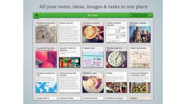 PHOTO: Evernote is a great iPad app for taking notes.