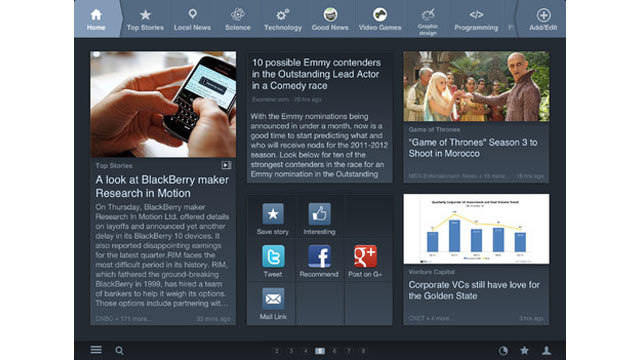 PHOTO: News360, like Flipboard, is an app for getting all your news in one place.