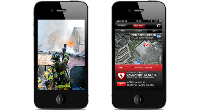 PHOTO Launched by Californias San Ramon Fire Protection District in January, the app alerts CPR-savvy citizens to cardiac emergencies in their area, with the hope that theyll be able to help out until emergency professionals arrive.