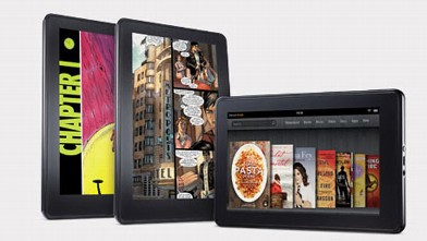 PHOTO: Amazon's Kindle Fire tablet has a 7-inch display making it easy to hold in one hand.