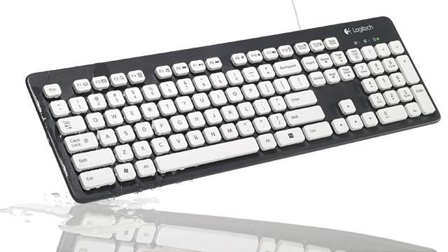 PHOTO: Logitech's Washable Keyboard K310