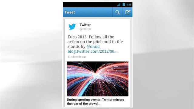 PHOTO: The official Twitter app is available for the iPhone, iPad, Android, and Android tablets.
