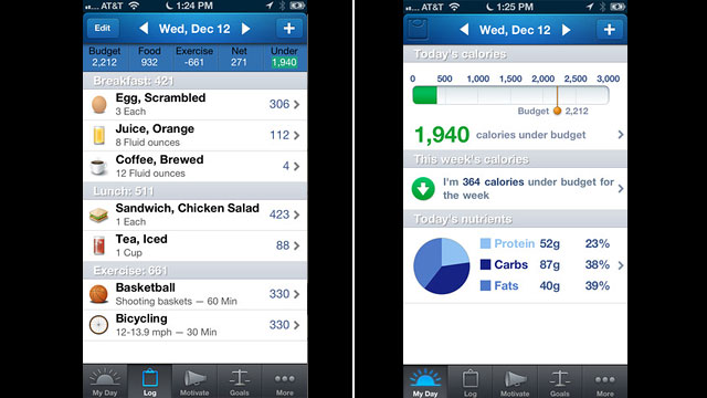 PHOTO: Lose It allows you to track your food and set goals.