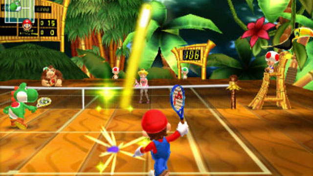 """PHOTO: A scene from the new Nintendo 3DS game """" Mario Tennis Open."""""""