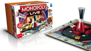 PHOTO: A publicity photo of the new Monopoly Live game from Hasbro.