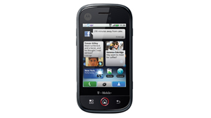 PHOTO The Motorola CLIQ with MOTOBLUR is shown.