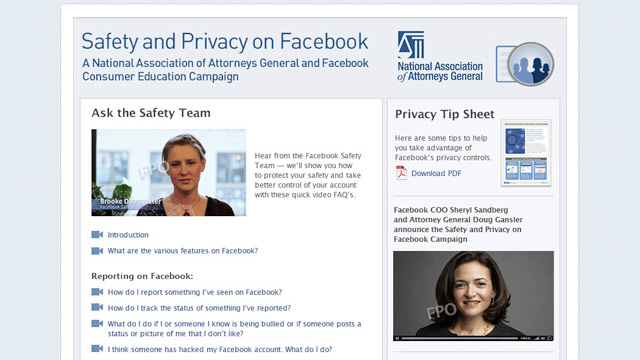 PHOTO: Facebook and the National Association of Attorneys General have teamed up to offer teens and their parents privacy tips.