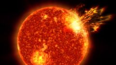 PHOTO: NASA scientists say that solar storms may have been a key component to helping spark life on Earth.