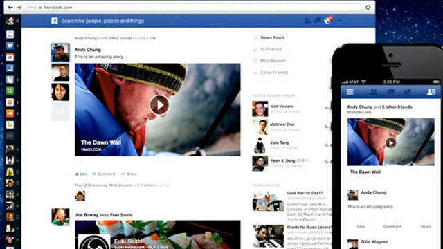 PHOTO: Facebook's new News Feed