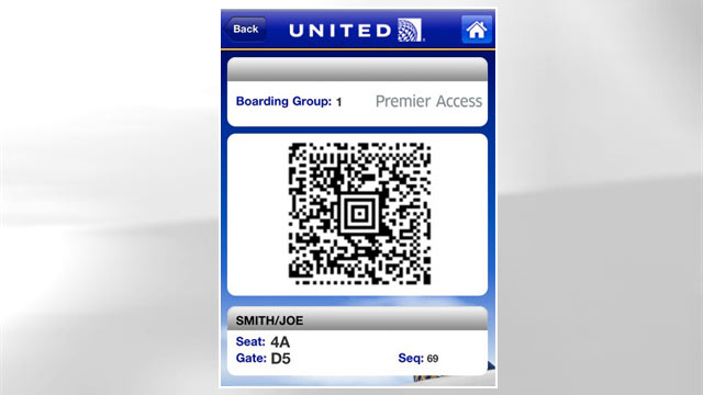 PHOTO: United's Passbook app makes it easy to get your plane ticket as soon as you get to the airport.