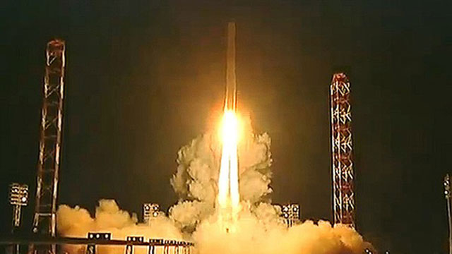 PHOTO: A Zenit rocket launches into space carrying Russias Phobos-Grunt spacecraft toward Mars on a mission to collect samples of the Martian moon Phobos.