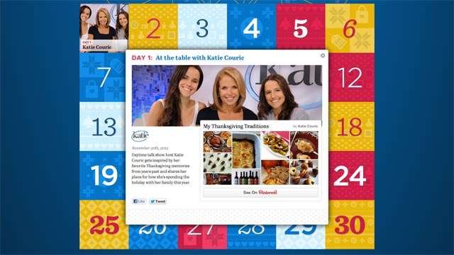 PHOTO: Pinterests Pinspiration calendars centralizes new Pintererst boards from celebrities, non-profits, etc.