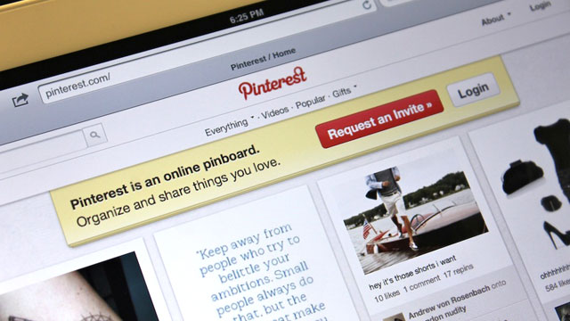 PHOTO: Pinterest, a digital pin-board service, has a number of different uses.