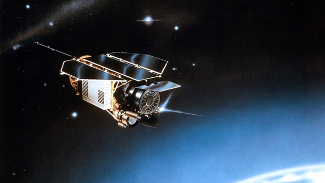 PHOTO:Artists impression of the ROSAT satellite in space