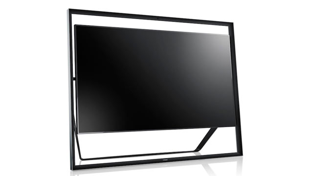 PHOTO: Samsungs UHD TV looks like it is floating within its frame.