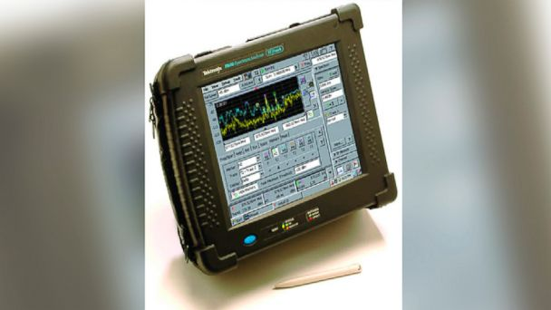 PHOTO: A spectrum analyzer can be used to figure out if theres a particular computer connection has been bugged.