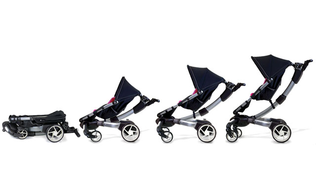 PHOTO: The 4Moms Origami is the most high-tech stroller ever made with power-folding capabilities.