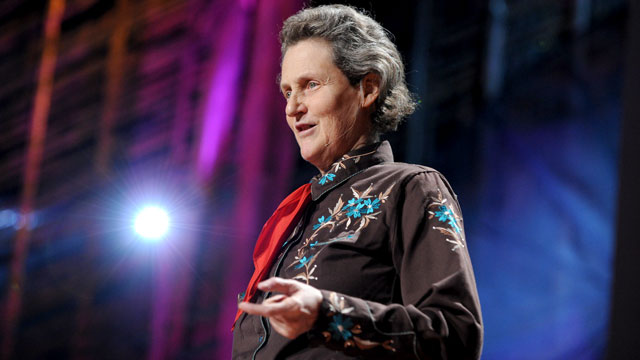 "PHOTO: Temple Grandin speaks at the TED2010 during Session 9: ""Imagination"" in this Feb. 12, 2010 file photo in Long Beach, Cali."