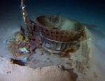 PHOTO: Photo shows the thrust chamber from NASAs Apollo 11 F-1 engine wreckage recovered by John Bezos expedition.