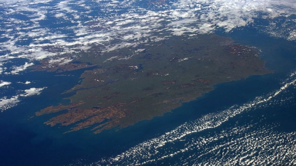 St. Patrick's Day View of Ireland From Space