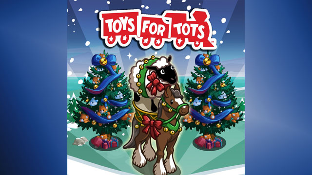PHOTO: During the holiday season, Zynga will offer in-game charitable drives with in-game purchases going to Toys for Tots.
