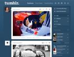 PHOTO: A screenshot of Tumblr, the popular blogging-based social network.